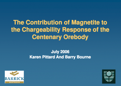 The Contribution of Magnetite to the Chargeability Response of the Centenary Orebody