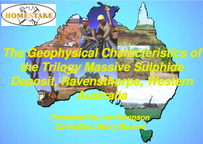 The Geophysical Charactersistics of the Trilogy Massive Sulphide Deposit Ravensthorpe WA