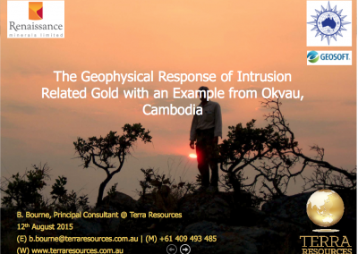 The Geophysical Response of Intrusion Related Gold with an Example from Okvau, Cambodia