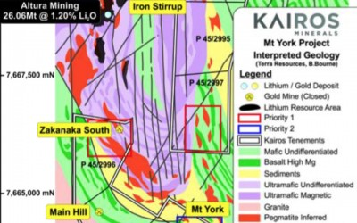 Numerous new pegmatite targets identified at Mt York Lithium Project, WA
