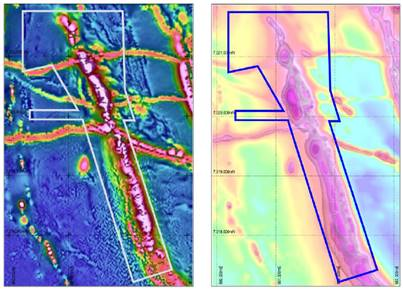 Magnetics survey defines target zone – RC drilling to commence mid February