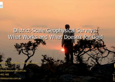 District-Scale Geophysical Surveys: What Works and What Doesn't for Gold