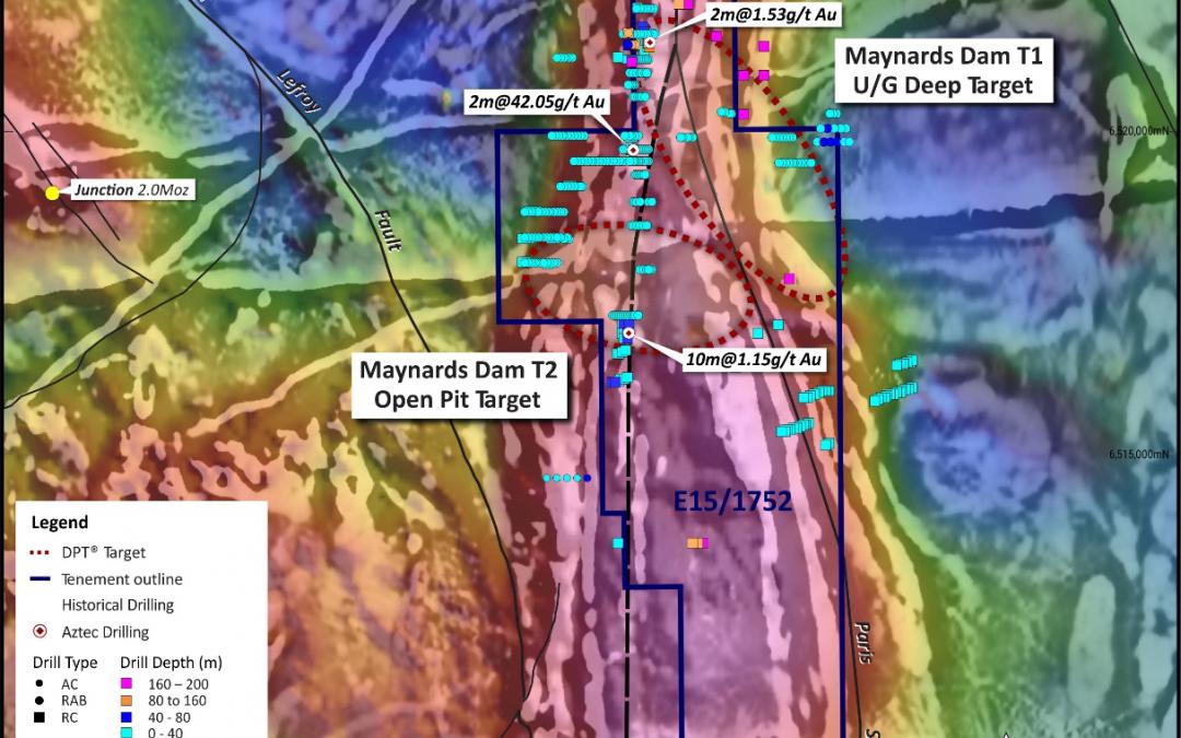 New Geophysics at Maynard's Dam Shows Prospect Potential