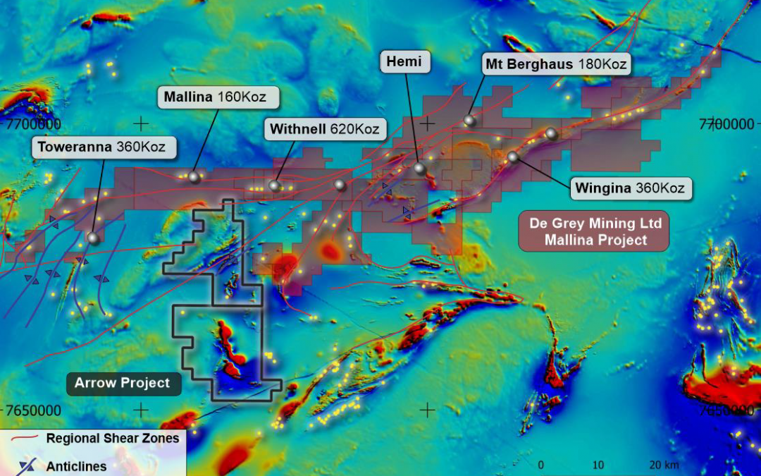 High Resolution Magnetic Survey Defines 40 Intrusion Related Targets at Arrow